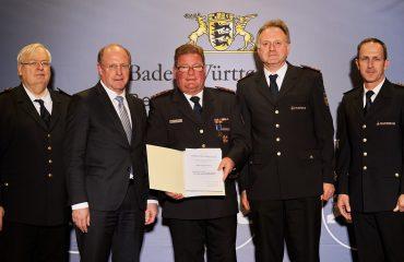 Personen von links nach rechts: Dr. Frank Knödler, Wilfried Klenk, Klaus Dalferth, Thomas Häfele, Dr. Georg Belge | Fotograf: Steffen Schmid